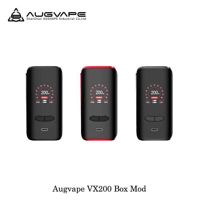 Cigarette électronique Augvape VX200 200 W boîte de tc Mod Mod box Par Double 18650 Batterie Vaporisateur Vaporisateur VS Voopoo Glisser 2 Mod boîte