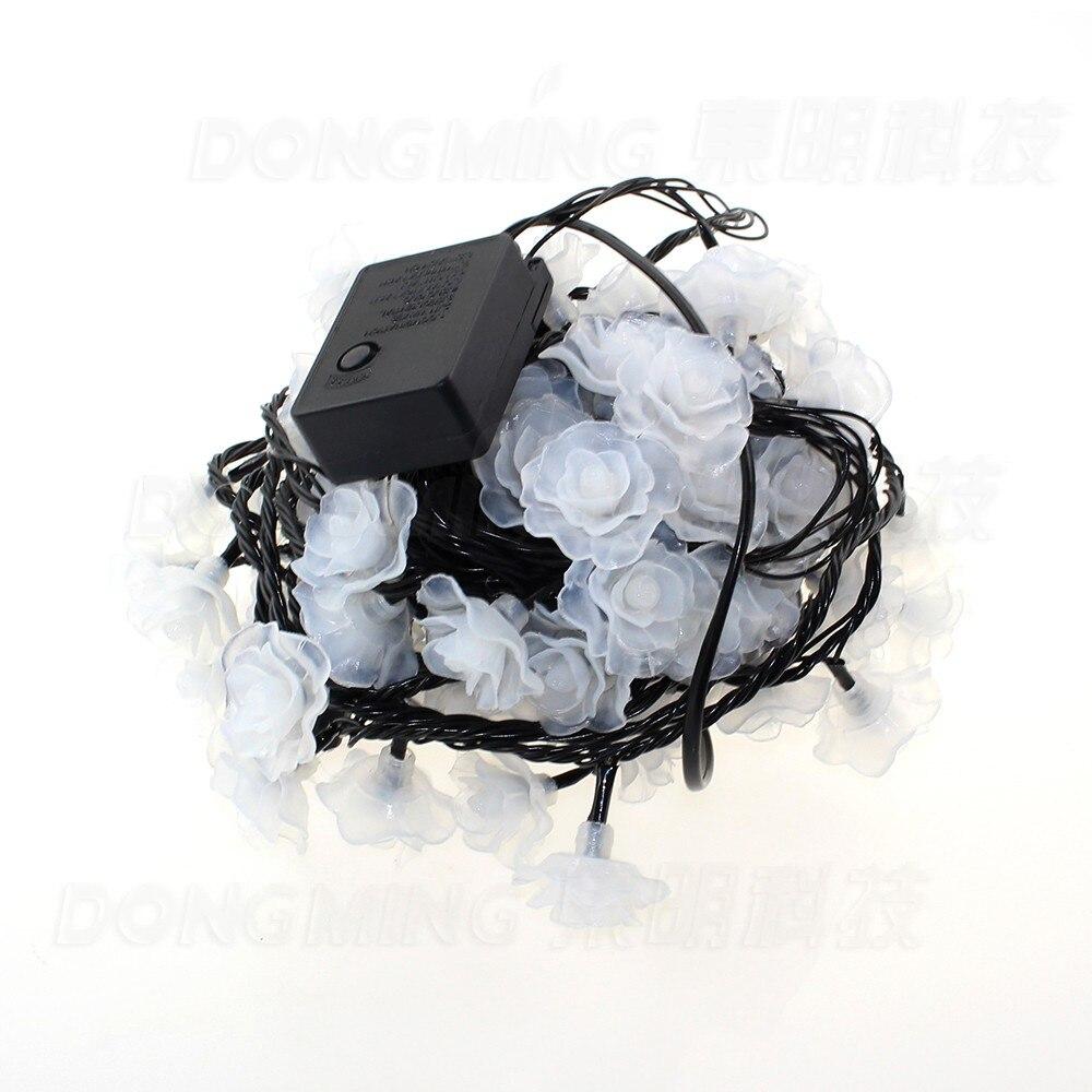 Black wires 1pcs LED Christmas lights 10m 80leds LED rose string ...
