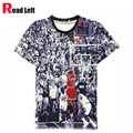 Men's Jordan T Shirt 23 Short Sleeve 3D Printed Hip Hop Style T Shirt 2016 Men Summer Clothing Streetwear Punk Tees Shirts