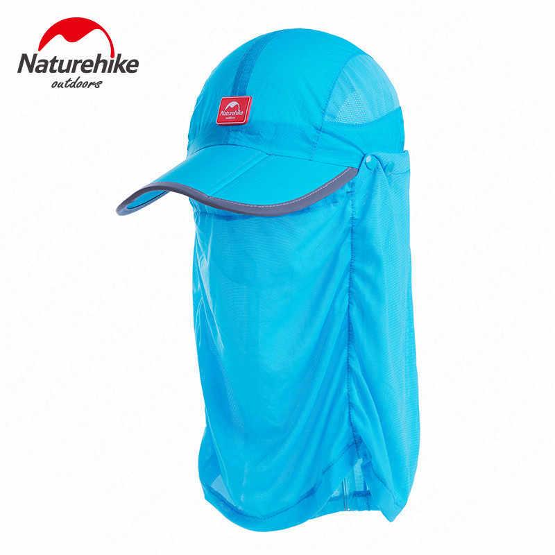 Naturehike Outdoor Zomer UV Protectio Hoed Ademend Wandelen Vissen Hoed Hals Cover Sluier Anti-muggen Sport Vissen Wandelen