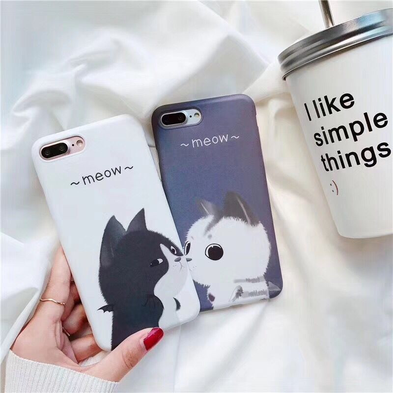Lovely Cartoon Cute Cats Soft <font><b>TPU</b></font> Silicone Mobile Phone <font><b>Cases</b></font> For iPhone8 8plus X 10 hot sale Protective Shell Coque Funda <font><b>Case</b></font>