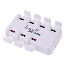 7 Ports USB 3.0 Charging Dock Station Quick Charger Hub with Dustproof Cover for Mobile Hard Drive/Card Reader/tablet