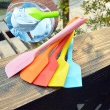 Силиконовая лопатка сладкого цвета, лопатка для торта, антипригарные подъемники для еды, домашняя кухонная утварь, кухонная утварь-гаджет, инструменты 21,5*4,3 см