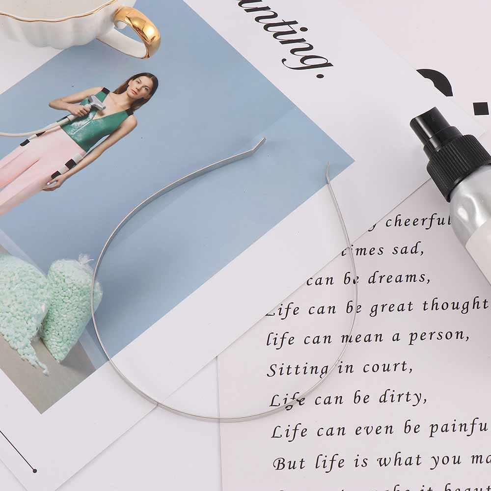 2 PC arte 5/7mm Metal Tiara de la boda para el pelo diademas Simple temperamento Clips de pelo accesorios para chica