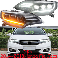 1set Car styling for Honda Fit Jazz GK5 headlight LED 2014 2015 2016 2017 2018 car accessories Front lamp Jazz Fit hi lo beam