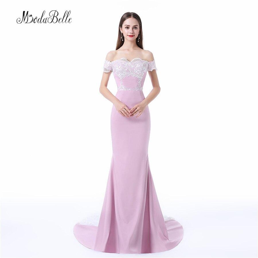 Modabelle элегантные длинные Вечерние платья Белый Кружево Русалка Наряды на свадебную вечеринку Свадебные Вечерние платья вечерние платья ха