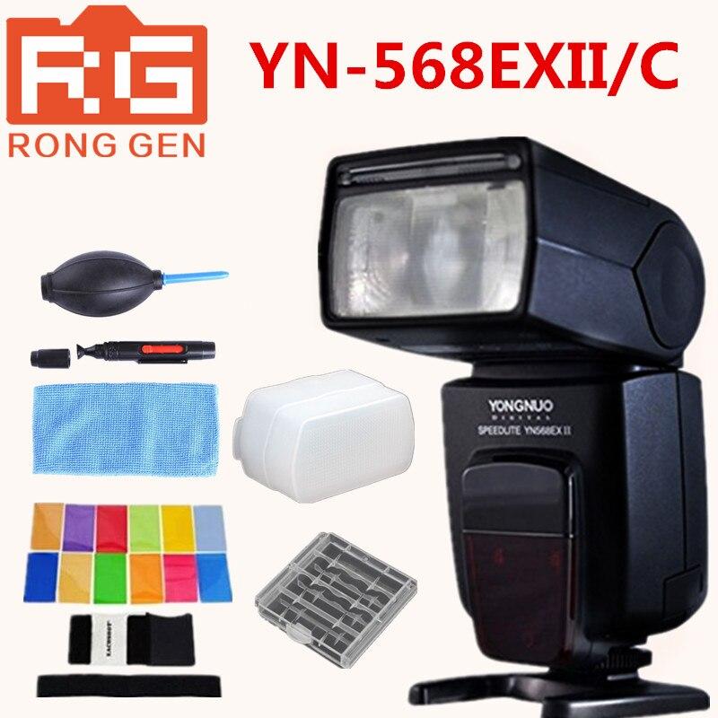 Yongnuo YN-568EXII C TTL HSS 1/8000s Flash Speedlite For Canon Camera + Free Cleaning kit Diffuser Color Card Battery case yongnuo yn685 yn 685 беспроводной доступ в эти speedlite флэш построить в ttl приемник работает с yn622c yn622ii c yn622c tx yn560iv yn560 tx