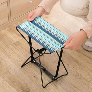 Image 3 - กลางแจ้งพับเก้าอี้พับเก้าอี้สตูลตกปลารถไฟ Bench เก้าอี้ชายหาดแบบพกพา 1 กระเป๋าเก็บฟรี