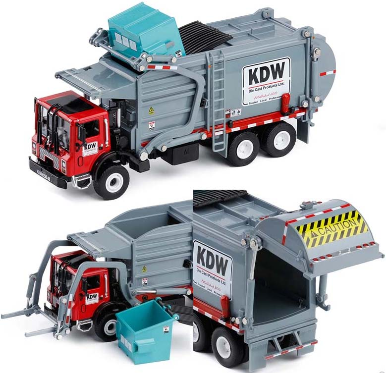 New Alloy materials handling truck garbage cleaning vehicle model 1 24 garbage truck sanitation trucks clean