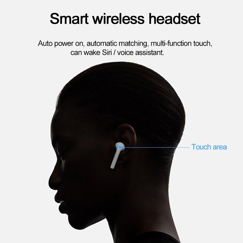 HOCO jumeaux écouteurs Mini 3D stéréo son Bluetooth écouteur vrai sans fil Sport écouteurs tactile contrôle écouteurs avec batterie externe - 3