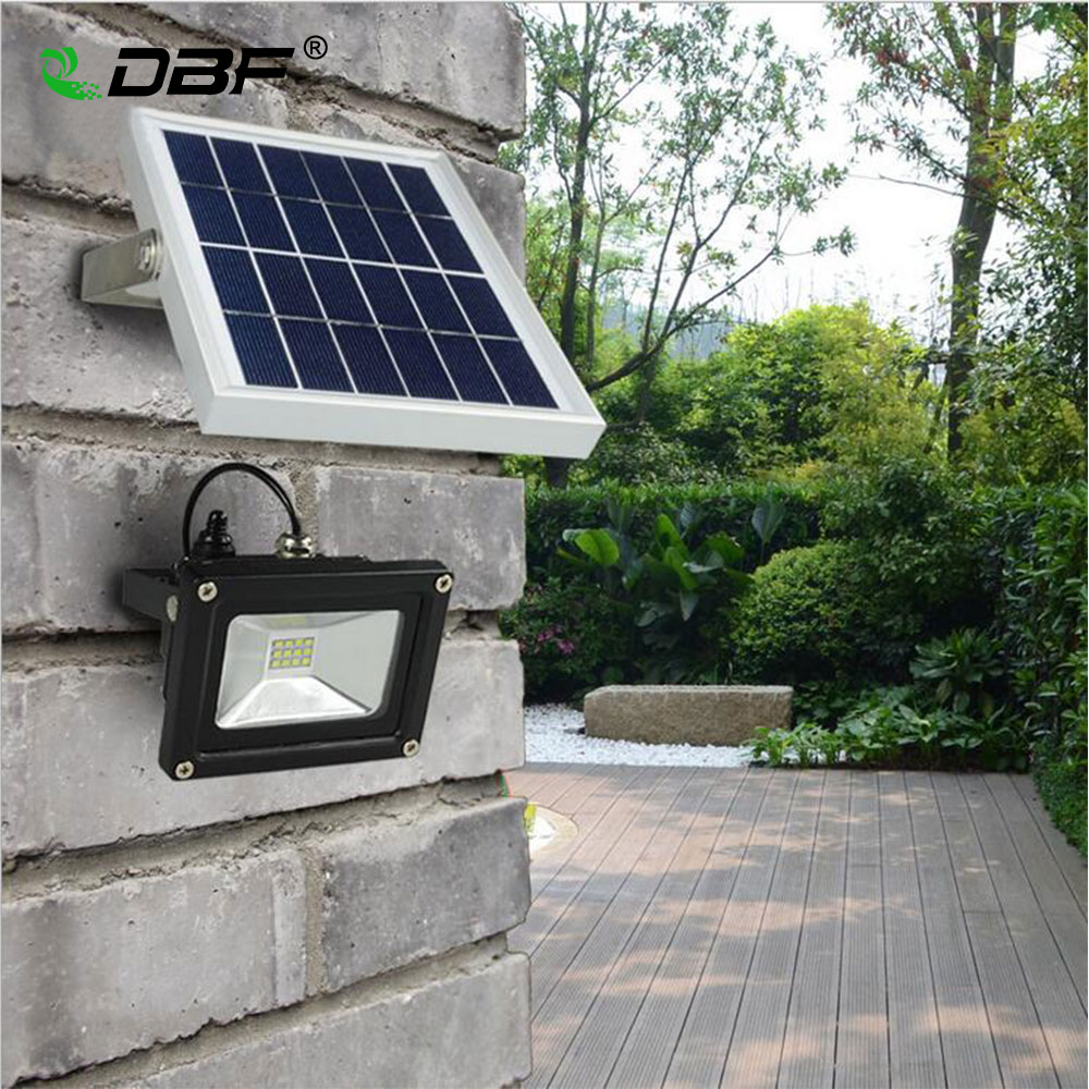 Outdoor Solar Powered LED Flood light 10W with 5M wire+2200mA battery for Garden Solar Floodlights Spotlights Lamps  Waterproof ru aliexpress com мотоутка