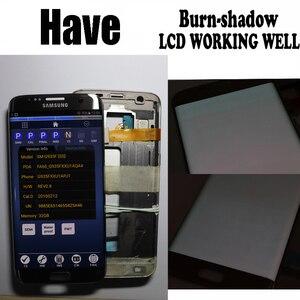 Image 3 - شاشة 5.5 بوصة مع شاشة LCD حرق الظل مع الإطار لسامسونج غالاكسي S7 حافة G935 G935F SM G935F مجموعة المحولات الرقمية لشاشة تعمل بلمس