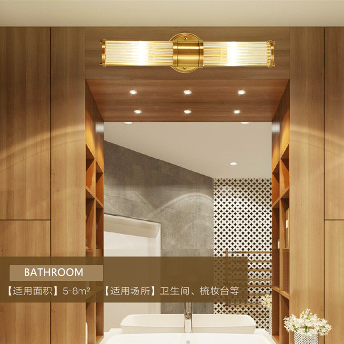 Attirant Wall Lamps Led Bathroom Light Copper Finish Glass Lampshade Bathroom Led  Mirror Light Up And Down Gold Fitting Wall Scones In LED Indoor Wall Lamps  From ...