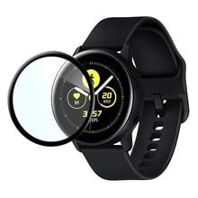 Полноэкранное Защитное стекло для samsung Galaxy Watch Active 2 40 мм 44 мм 42 мм 46 мм S2/S3 frontier HD анти-пузырьковая пленка