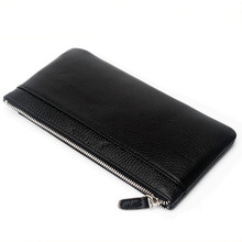 High Quality New Men Cowhide Genuine Leather Phone Clutch Ba