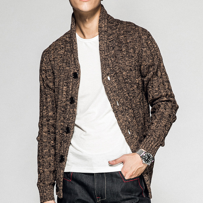 Pull homme jacquard ouvert poitrine pull homme automne jeunesse
