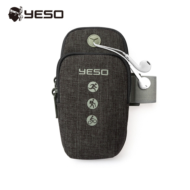 YESO Sports Armbands Cover for Running Arm bags Climbing Gym Jogging with Earphone Hole for Phone iPhone XS Max/X/8/7plus/6s/5