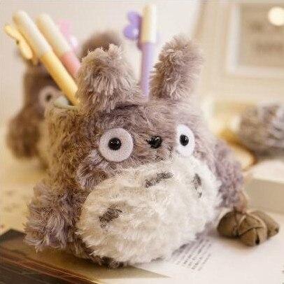 Плюшевые игрушки 1 шт. 13 см немного Хаяо Миядзаки Тоторо ручка контейнер мягкая игрушка творческий подарок для ребенка