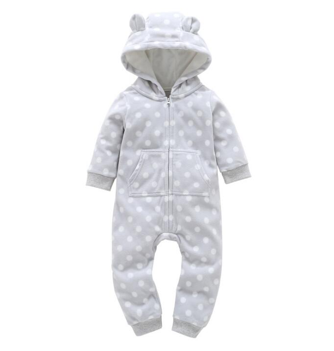 Christmas 2018 orangemom Bear Baby Clothing Thickening fleece baby   rompers   cartoon Hooded Jumpsuit for baby girl boy clothes