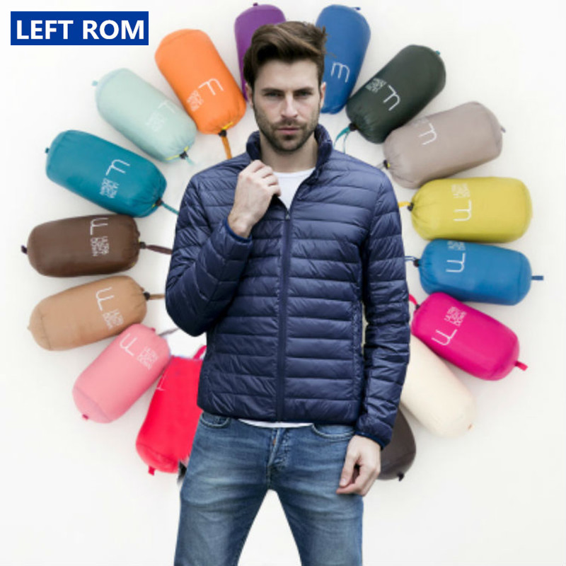 Large-Size Coats Light Duck-Feather Boutique Down-Jacket/male Thin Fashion And Stand-Collar