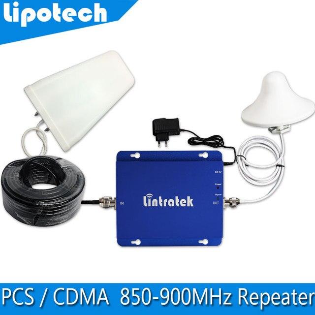 Repetidor GSM 850 mhz Sinal de Telefone Impulsionador 1000sqm Cobertura Mini 1900 mhz UMTS Dual Band Amplificador, carregador de energia + Antena 1 CONJUNTO