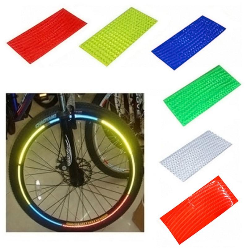 1pc Bicycle Mountain Bike Reflector Cycling Wheel Rim Reflective Tape Stickers