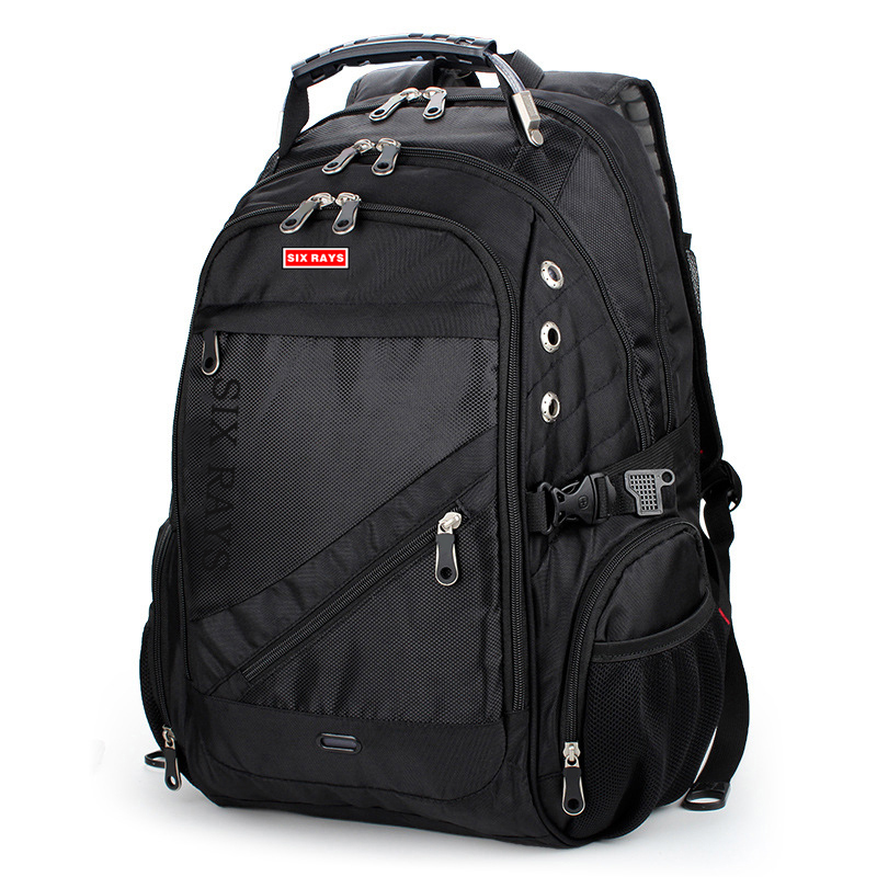 Image 2 - 2020 Hot Sale Mens Travel Bag Man Swiss Backpack Polyester Bags 