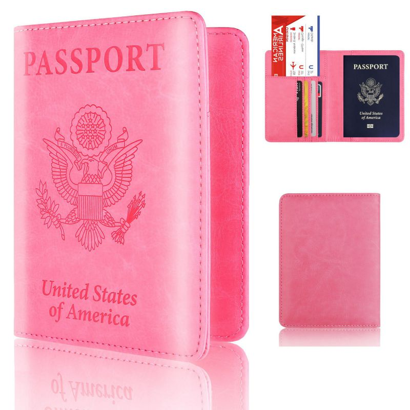 Leather Cards Passport Holder Travel PU Leather Passport Cover pouch Passport Case Home Office Storage Supplies