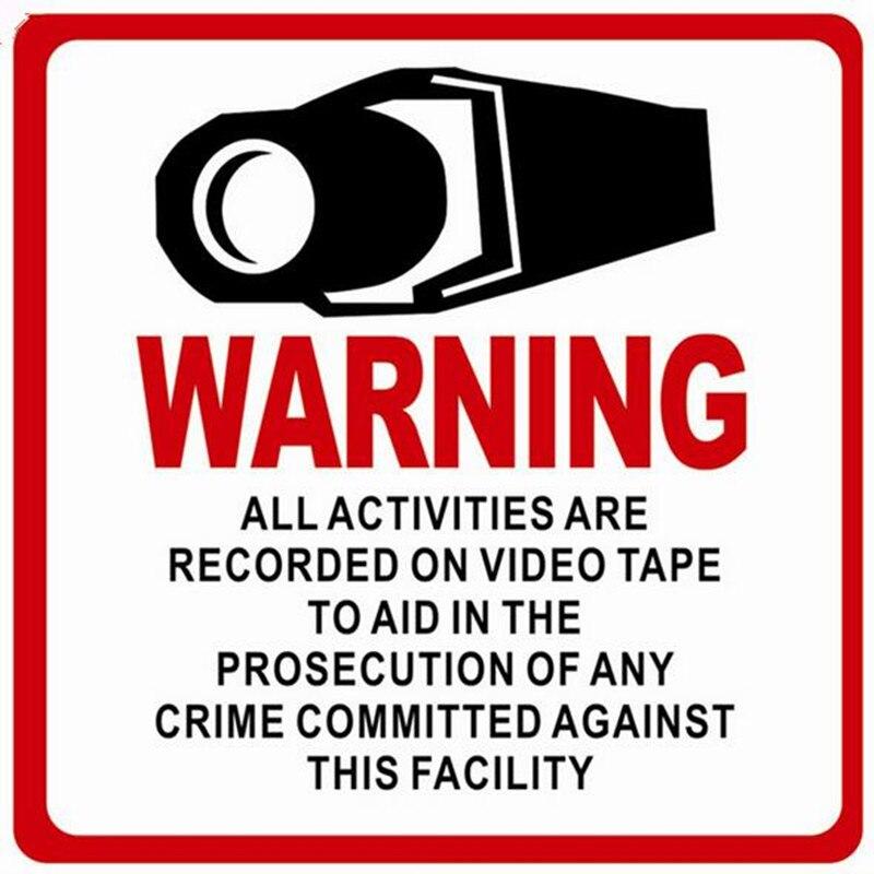 10 шт. Водонепроницаемый Главная видеонаблюдения безопасности Камера клей Предупреждение Бумага Стикеры Предупреждение стикеры знаки этик...