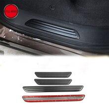304 SS автомобильный порог Добро пожаловать педаль наклейка пластина для VW Volkswagen Touareg 2011-2017 внутренняя отделка полосы Набор шт. 4