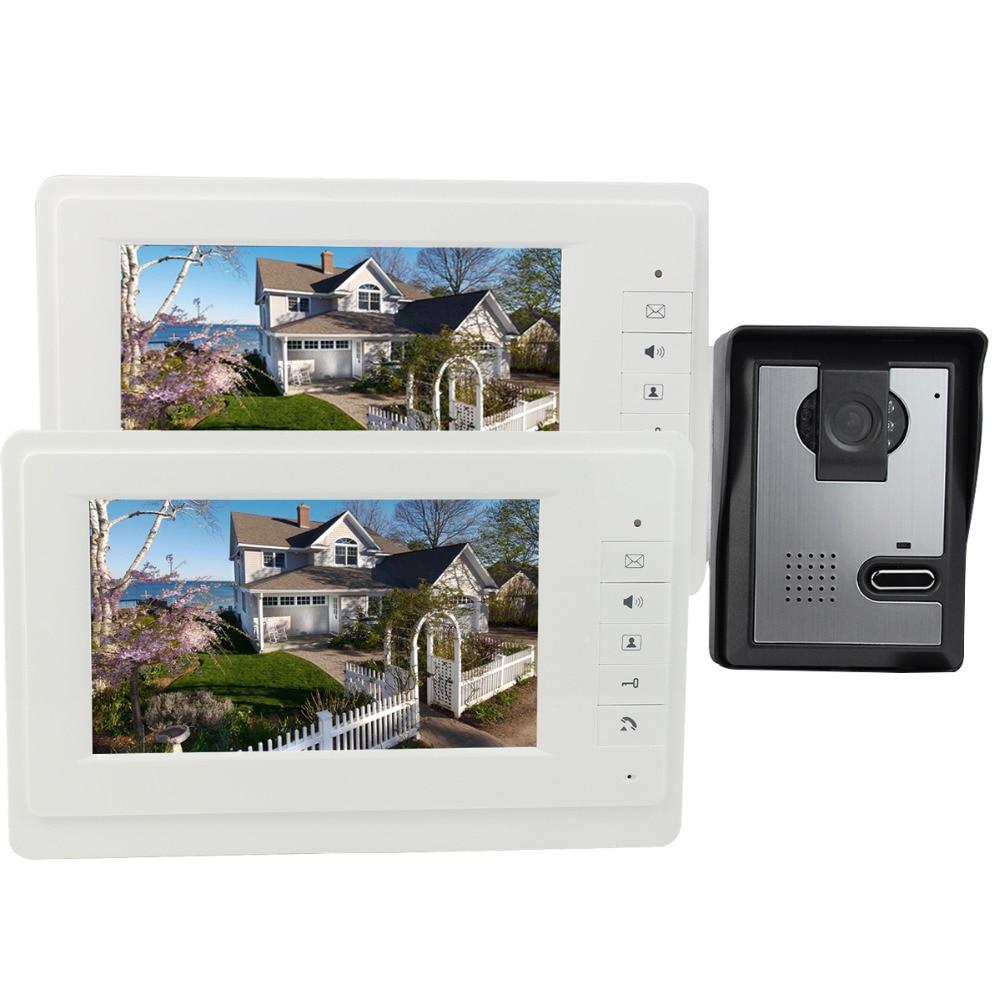 7 Inch Video Door Phone Intercom Doorbell IR Night Vision Camera Monitor for Villa 700TVL F4377B