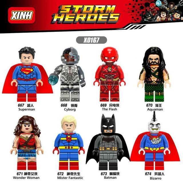 Pojedyncze Sprzedaż Aquaman Superman Cyborg Flash Wonder