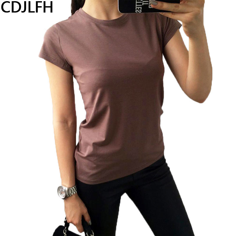 Sonmer Womens Casual Solid Short Sleeves O Neck Top Blouse T-Shirt