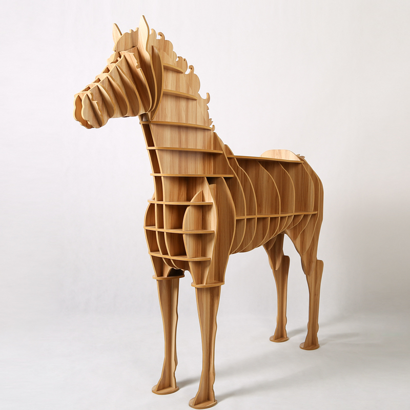 Aliexpress.com : Buy 1 Set 62*69 Inch Home Decor Wooden Horse Art Desk  Creative Horse Statue Wood Crafts For Living Room Decorative Art Furniture  From ...