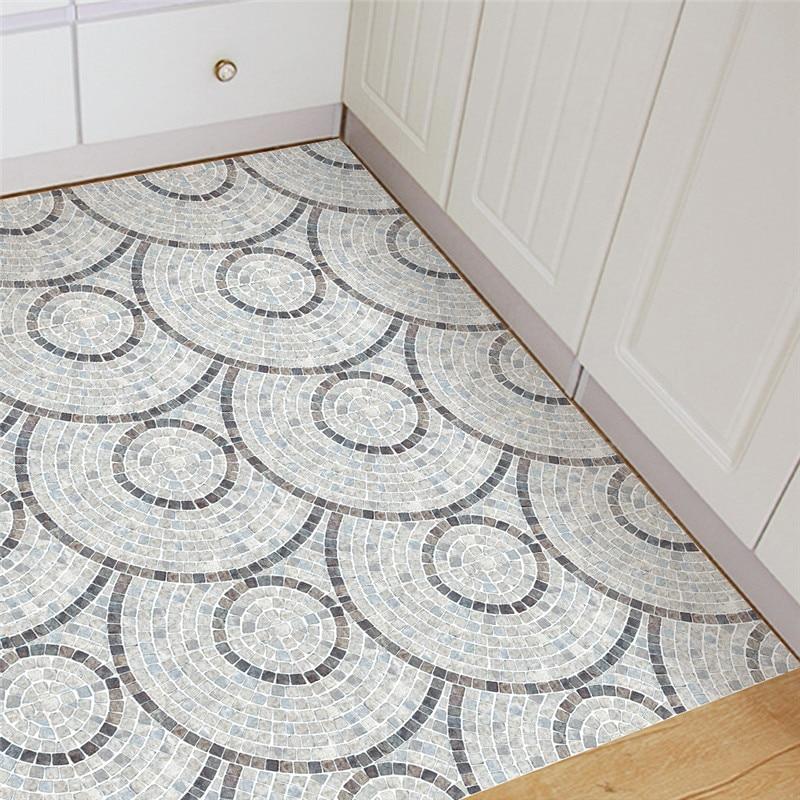 INS nouveau marbre style PVC plancher autocollant simple chambre étude salle imperméable anti-dérapant résistant à l'usure autocollants décor à la maison