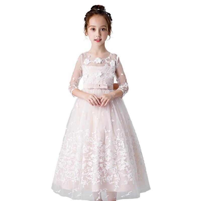 Boutique fille robe de princesse modérateur robe de soirée Piano Costume filles robe de fête de noël élégant enfants robes pour les filles - 5