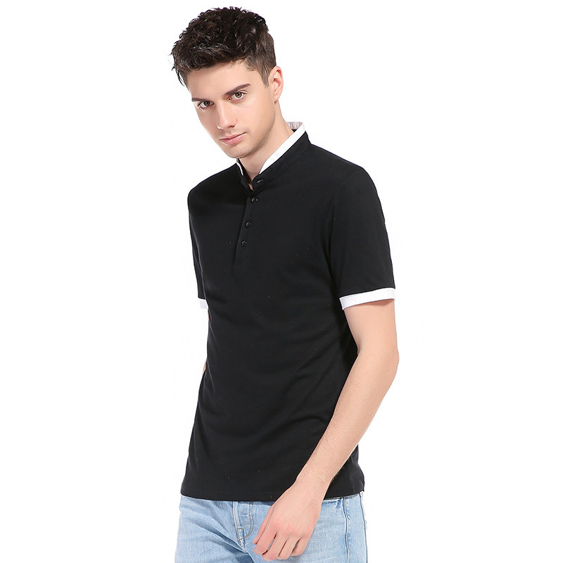 2cfd3a41db57 Henley Shirt Men 2017 Summer Short Sleeve Tee Shirt Homme Brand Solid Color  Cotton Mens T shirts Casual Slim Fit Hip Hop Top Tee-in T-Shirts from Men s  ...