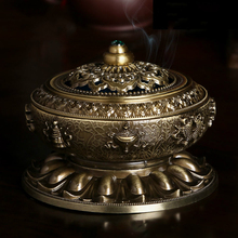 Classical Copper Alloy Antique Copper Alloy Incense Censer Simple Aromatherapy Incense Burner  G