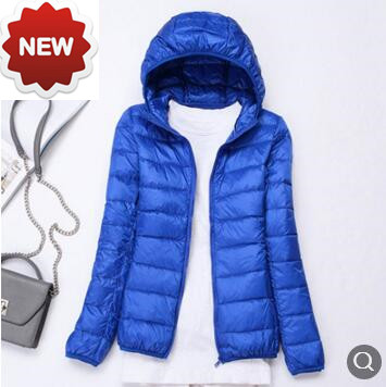 011510 2018 S-7XL new ultra light thin   down   jacket goose feather   coat   winter puffer jacket hood portable female outwear