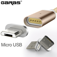 GARAS Magnetic Charger Cable Lightning8Pin Micro USB Mobile Phone Magnet cable Micro-USB Fast Charger Adapter magnetic Cable