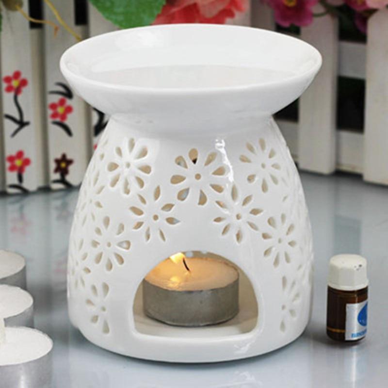 Manual Hollow Carved White Ceramic Burner Japanese Incense