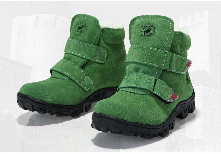 ФОТО 2017 winter new fashion children snow boots girls and boys shoes warm waterproof cotton-padded shoes snow boots for kids