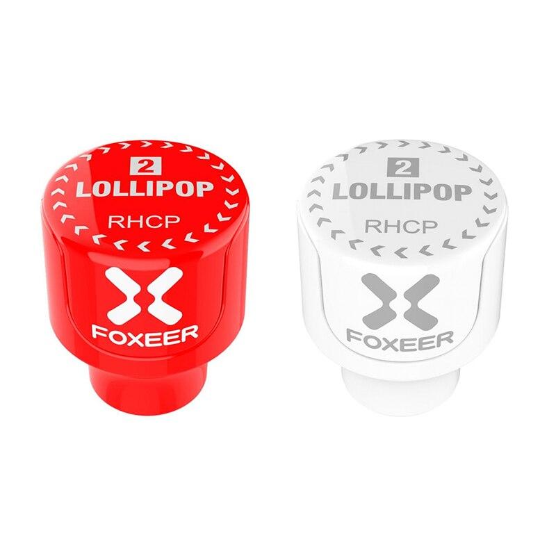 Image 3 - 2 шт Foxeer Lollipop 3 2.5DBi Stubby 5,8G Omni FPV антенна LHCP/RHCP для моделей RC Мультикоптер очки запасные части белый красный-in Детали и аксессуары from Игрушки и хобби on AliExpress