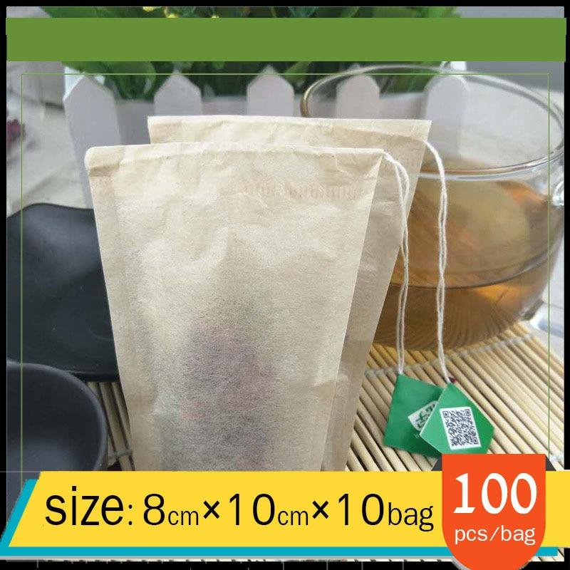 1000pcs80*100mm wood pulp single pumping tea bag trapezoidal color tea bag line tea bag original color filter paper bag