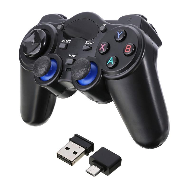 Eastvita 2,4G Wireless gamepad Pro controller Doppel Schock Anti-schweiß joypad Mit USB Adapter für Android Tabletten PC TV Box