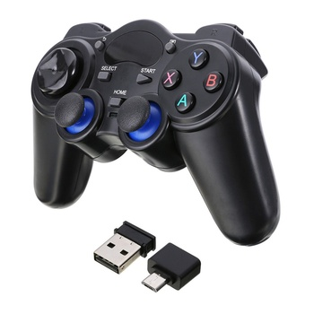 Eastvita 2.4G Wireless  gamepad Pro controller Double Shock Anti-sweat joypad With USB Adapter for Android Tablets PC TV Box Gamepads