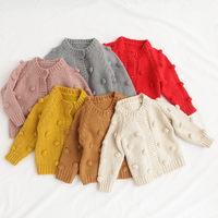 New Children's Wear Sweater Girl Baby Cotton Knit Cardigan Coat Cardigan For Girl Kids Cardigan Sweater Fashion-clothes-cheap