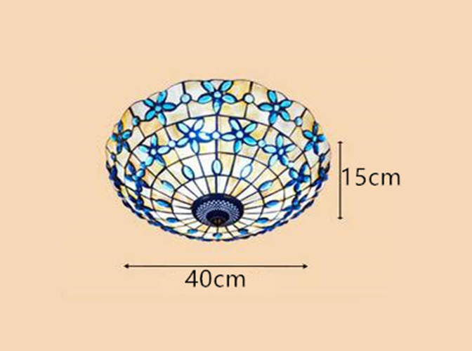 Lilac Shell Ceiling Lamp 11