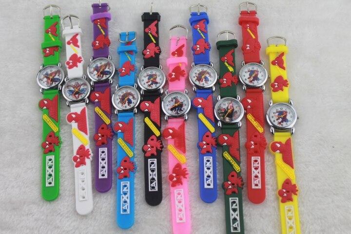 100pcs/lot Mixed Wholesales Cut 3D Cartoon Design Clock Watch Boys Girls Children Party Gifts Silicone Quartz Wrist Watch By DHL