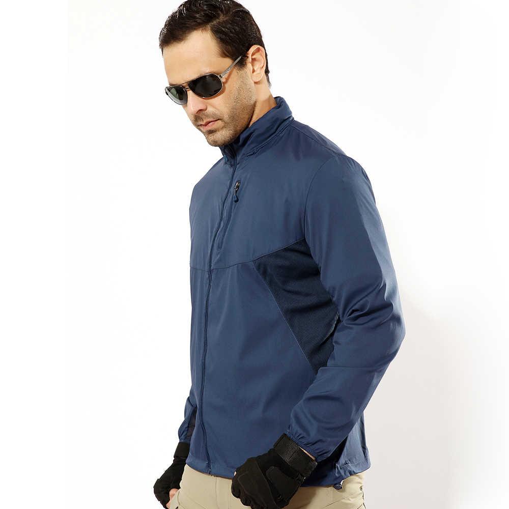Wings verano hombre moda prendas de vestir exteriores rompevientos chaquetas delgadas con capucha impermeable Casual abrigo deportivo militar táctico ejército